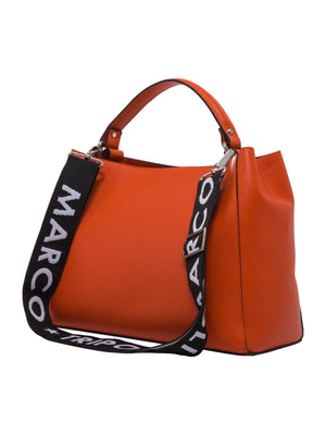 Melissa , Leather Tote Bag , Orange