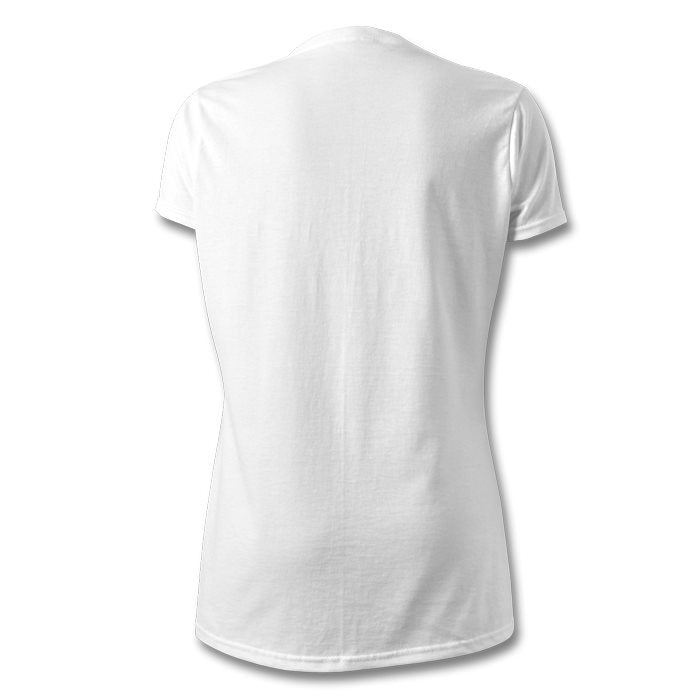 LOGO , V-NECK T-SHIRT , WOMEN , WHITE