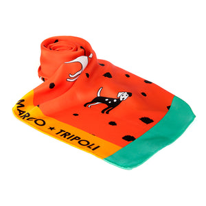 Molly , Puppy Dog Scarf Orange , Reduced from £69 to £45