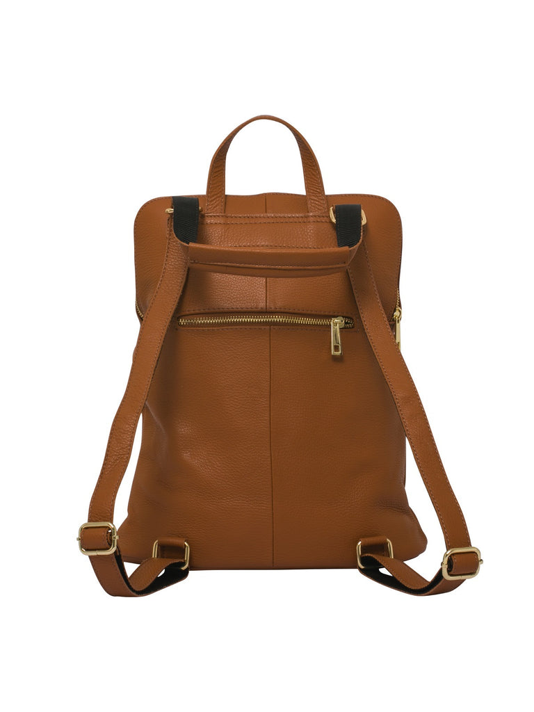 Ricky , Leather Rucksack , Tan