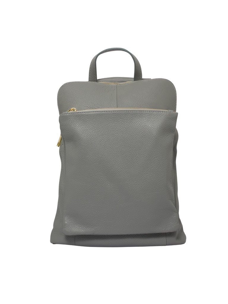 Ricky, Leather Rucksack , Grey