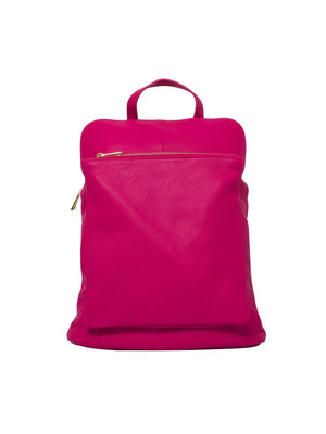 Ricky, Leather Rucksack , Fuchsia , Reduced from £99 to £49