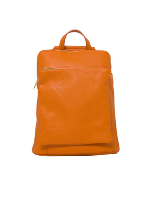 Ricky , Leather Rucksack , Orange , Reduced from £99 to £49