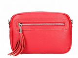 ANITA , LEATHER CROSS-BODY , RED