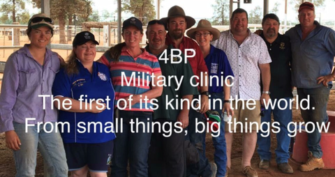 4BP Military Clinic The first of its kind in the world. From small things, big things grow