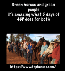 Green horses and green people it's amazing what 5 days of 4BP does for both