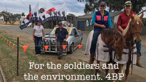 For the soldiers and the environment. 4BP