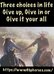 Three choices in life give up, give in or give it your all