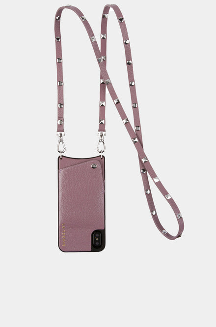 Leather Crossbody - Sarah Iris/Silver
