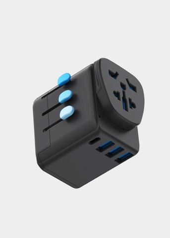 Zendure Passport Pro World Travel Adapter with Grounding and PD