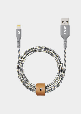 Zendure Super-Durable USB to Lightning Cable with Double Kevlar Braiding 1M