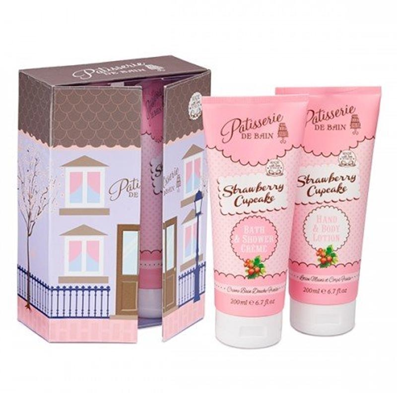 Patisserie De Bain Strawberry Cupcake Bath and Body Collection (2x 200ml) PB803