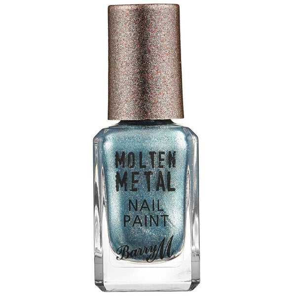 Barry M Blue Glacier MTNP6 Blue Nail Polish - Molten Metal Collection (10ml)