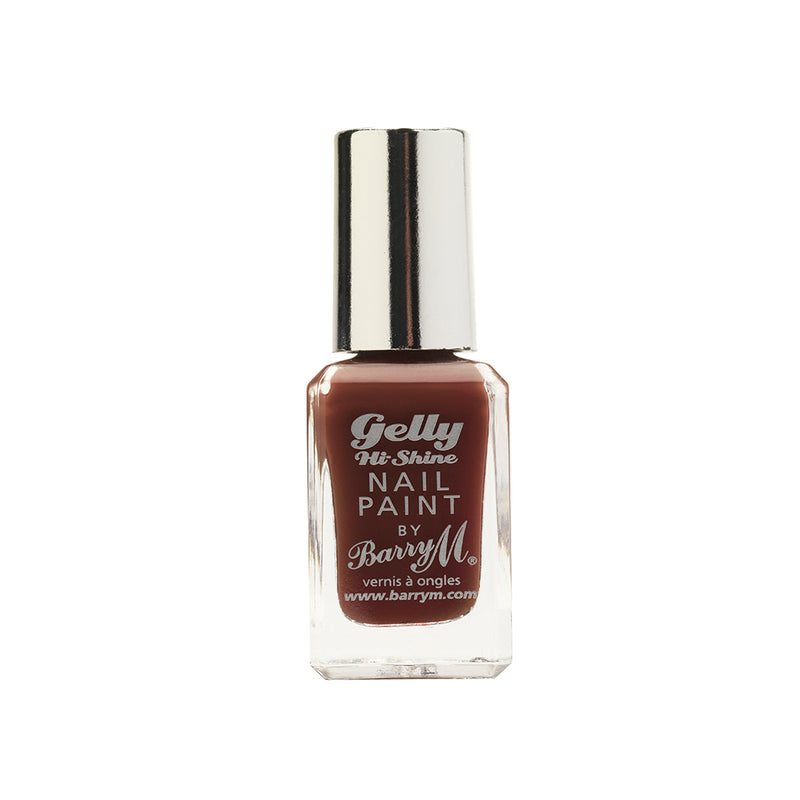 Barry M Cocoa GNP34 Brown Nail Polish - The Gelly Nail Effects Collection