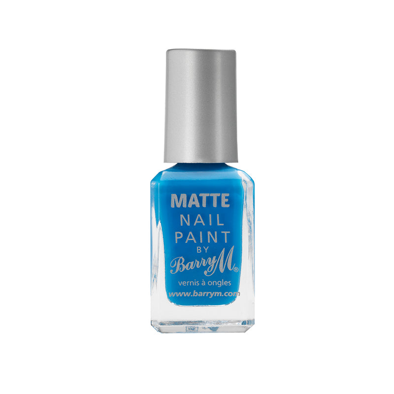 Barry M Malibu MNP8 Blue Nail Polish - The Classic Matte Collection