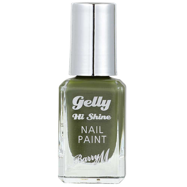 Barry M Matcha GNP50 Green Nail Polish - The Gelly Nail Effects Collection