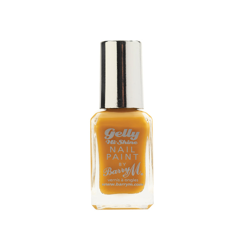 Barry M Mustard GNP31 Yellow Nail Polish - The Gelly Nail Effects Collection