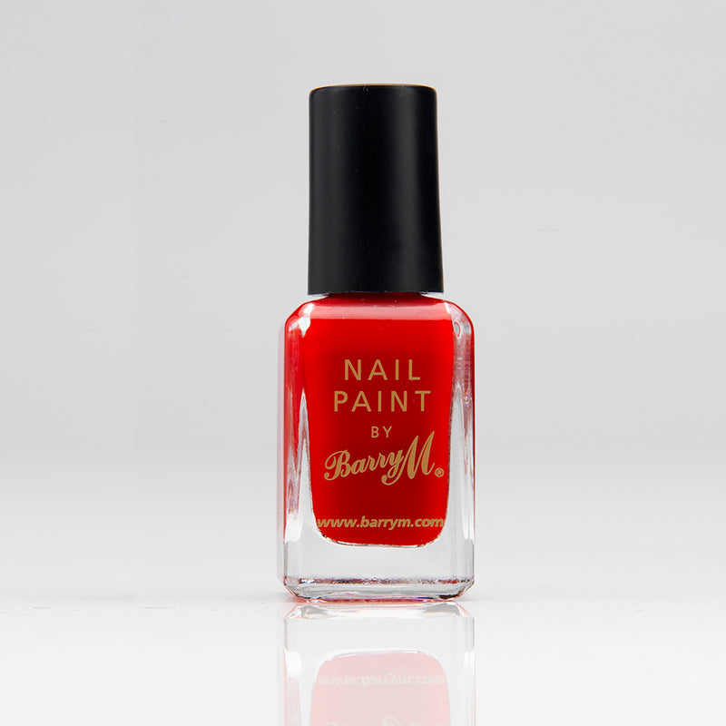 Barry M NP262 Bright Red Nail Polish - The Nail Paint Collection