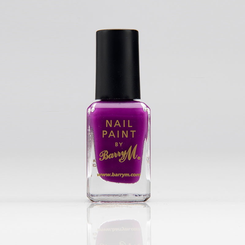 Barry M NP303 Bright Purple Nail Polish - The Nail Paint Collection