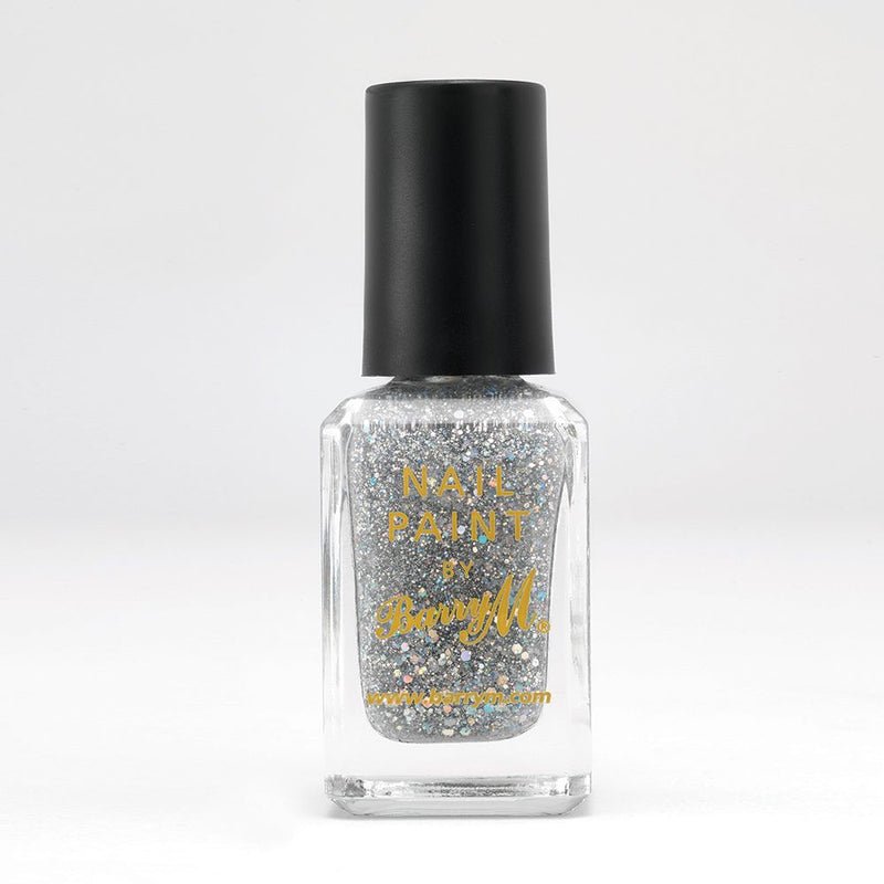 Barry M NP350 Diamond Glitter Silver Nail Polish - The Nail Paint Collection