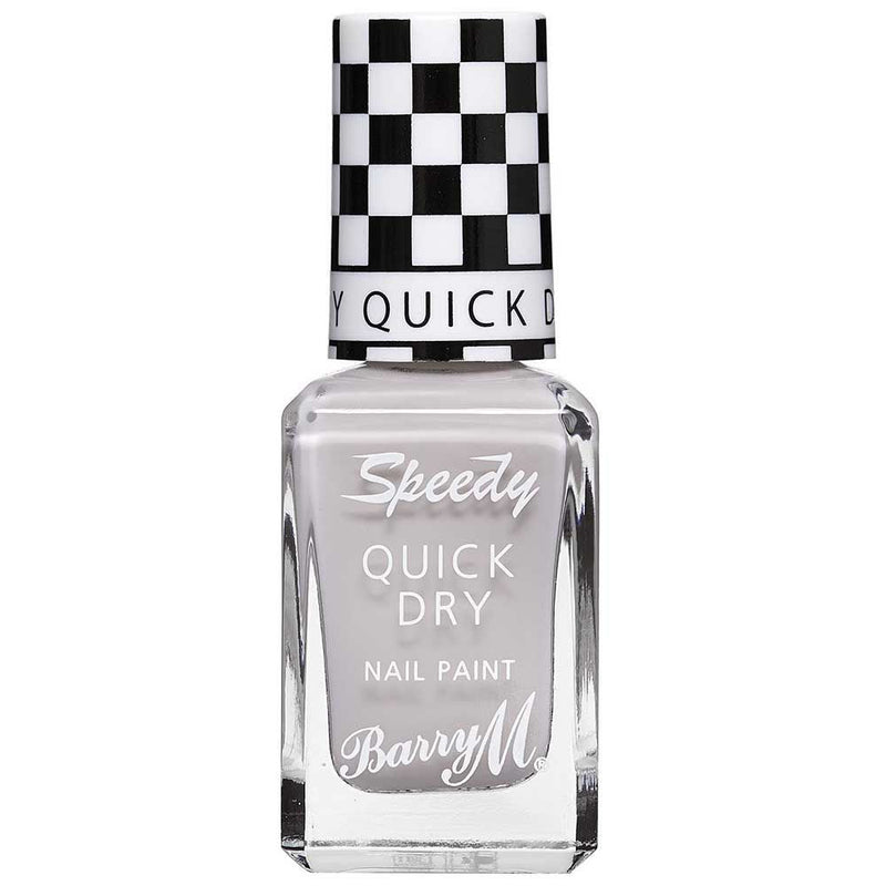 Barry M Pit Stop SDNP6 Grey Nail Polish - The Speedy Quick Dry Collection
