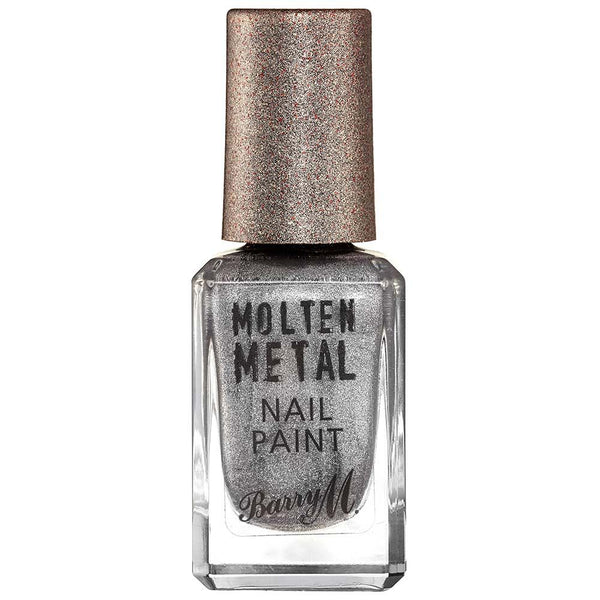 Barry M Silver Lining MTNP3 Silver Nail Polish - Molten Metal Collection (10ml)