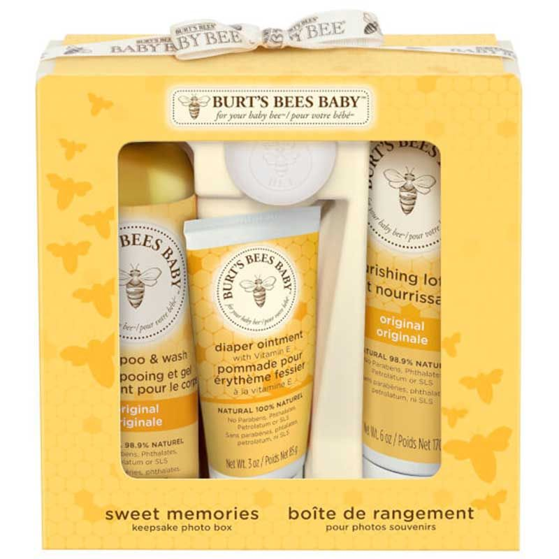 Burt's Bees Baby Bee Sweet Memories Keepsake Photo Box Gift Set