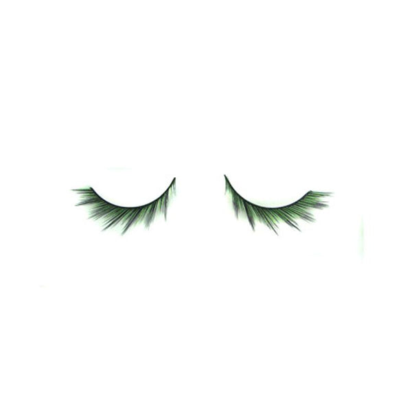 Eldora C101 Synthetic Black Green Purple Winged False Eyelashes