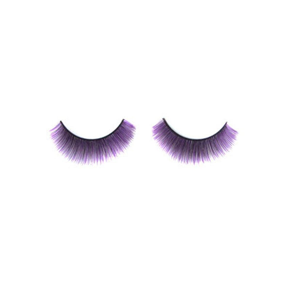 Eldora C110 Synthetic Black Purple Rounded False Eyelashes