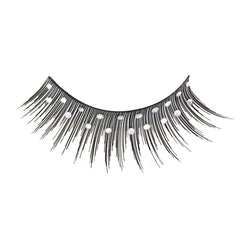Eldora D135 Real Hair Diamante Black Winged False Eyelashes