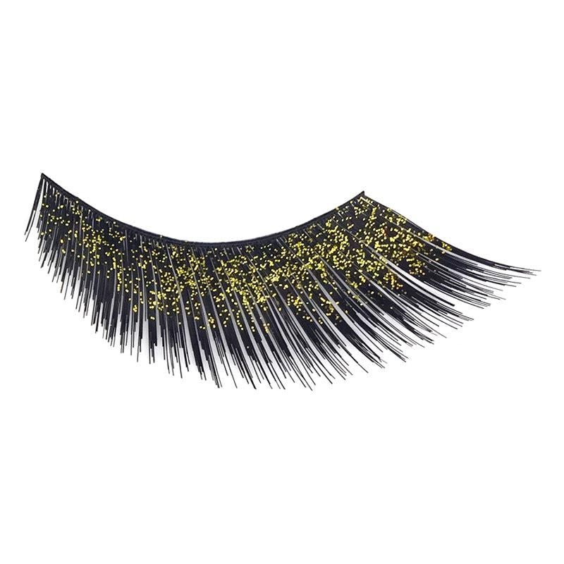 Eldora D157 Synthetic Diamante Black Winged False Eyelashes