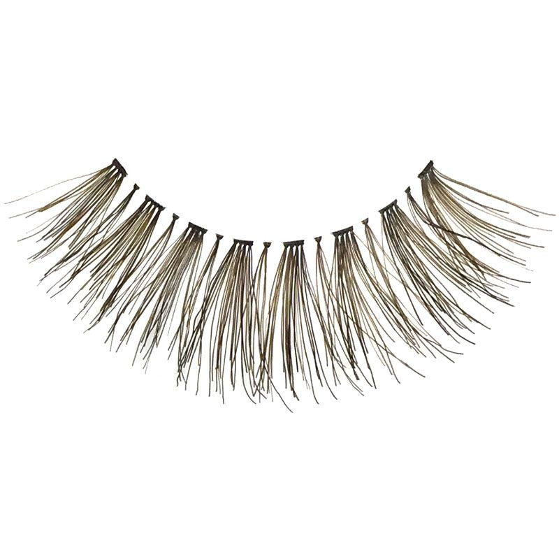Eldora H137 Real Hair Brown Flared False Eyelashes