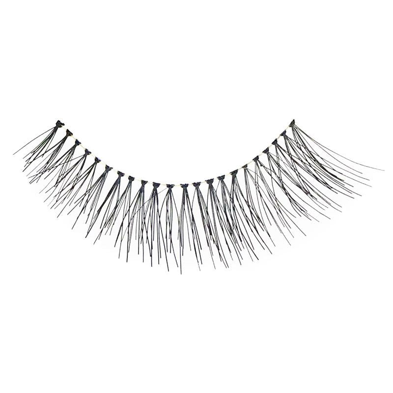 Eldora H142 Real Hair Black Flared False Eyelashes