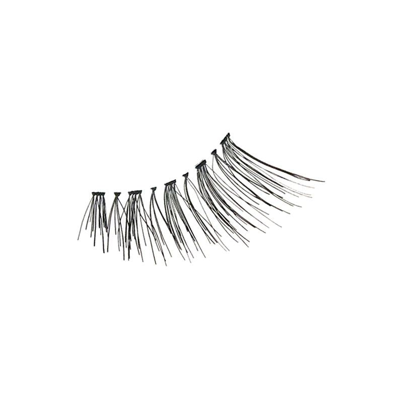 Eldora H152 Real Hair Black Flared False Eyelashes