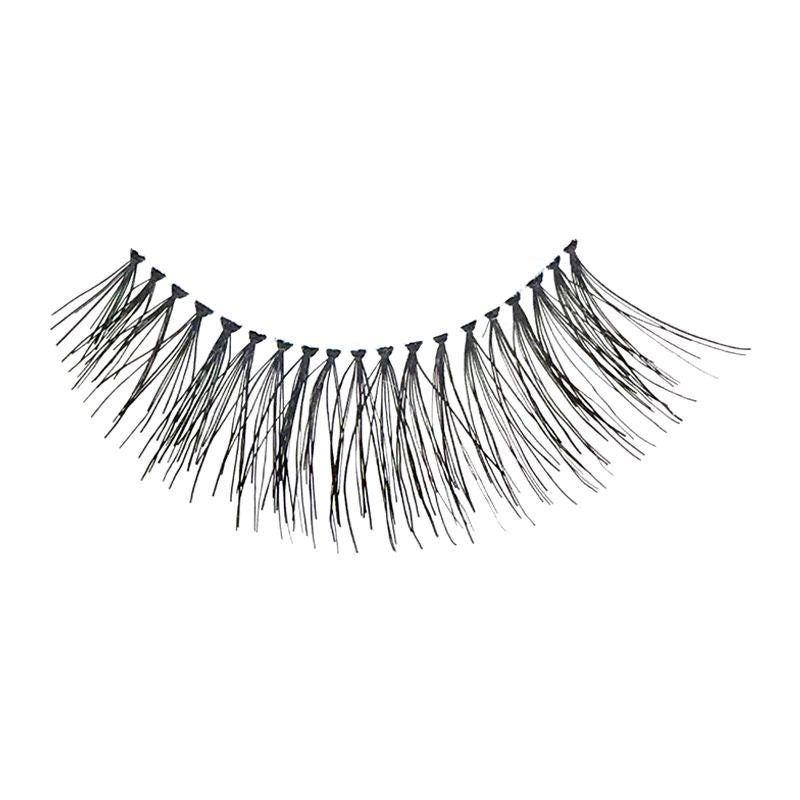 Eldora H155 Real Hair Black Flared False Eyelashes