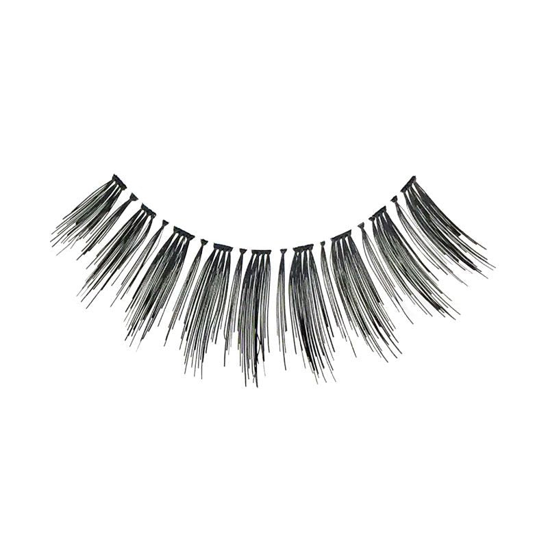 Eldora H163 Real Hair Black Winged False Eyelashes