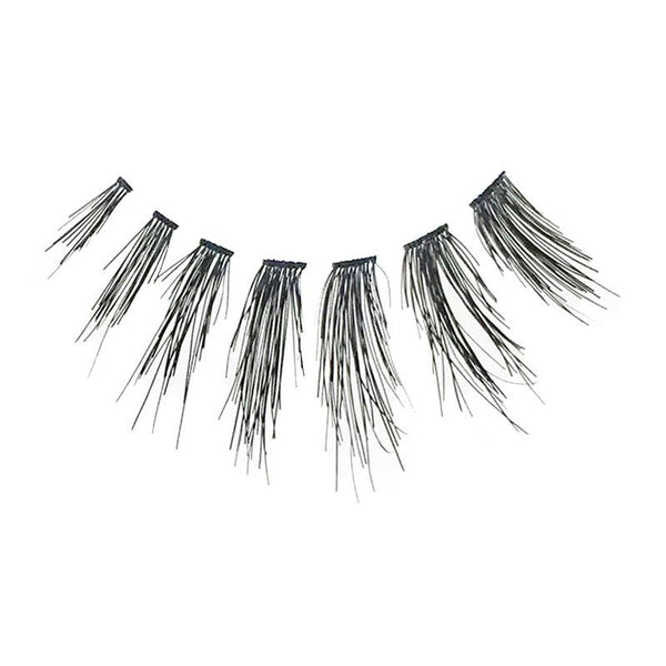 Eldora H167 Real Hair Black Winged False Eyelashes