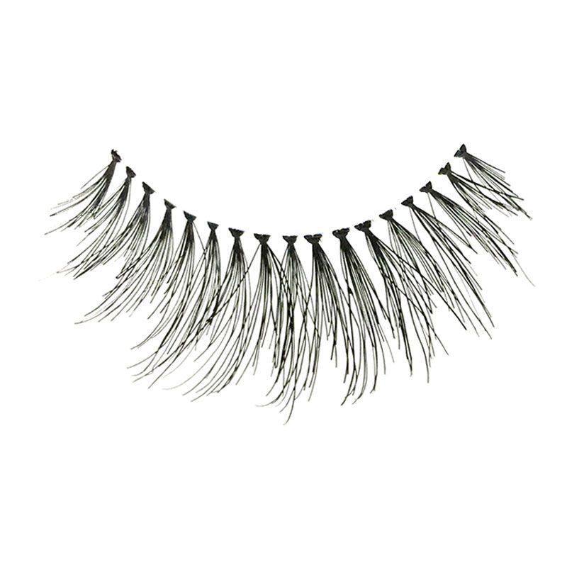 Eldora H168 Real Hair Black Flared False Eyelashes