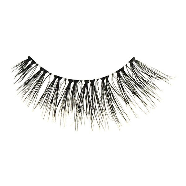 Eldora H173 Real Hair Black Flared False Eyelashes