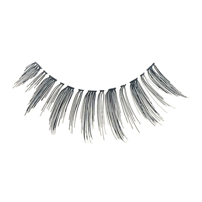 Eldora H175 Real Hair Black Winged False Eyelashes