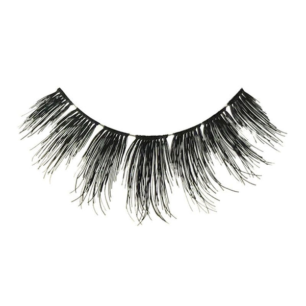 Eldora H176 Real Hair Black Flared False Eyelashes
