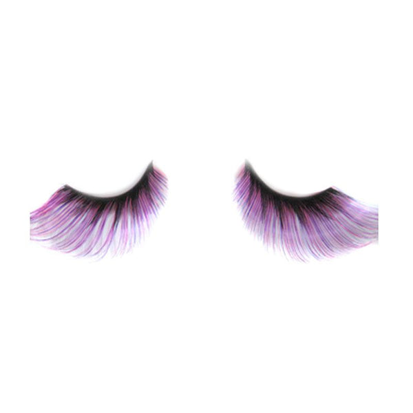Eldora J509 Synthetic Black / Pink Winged False Eyelashes