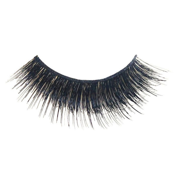 Eldora M106 Real Hair Black Multi-Layered Winged False Eyelashes