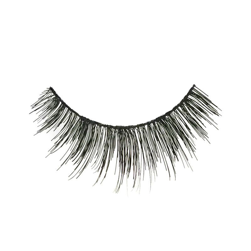 Eldora M109 Real Hair Black Multi-Layered Round False Eyelashes