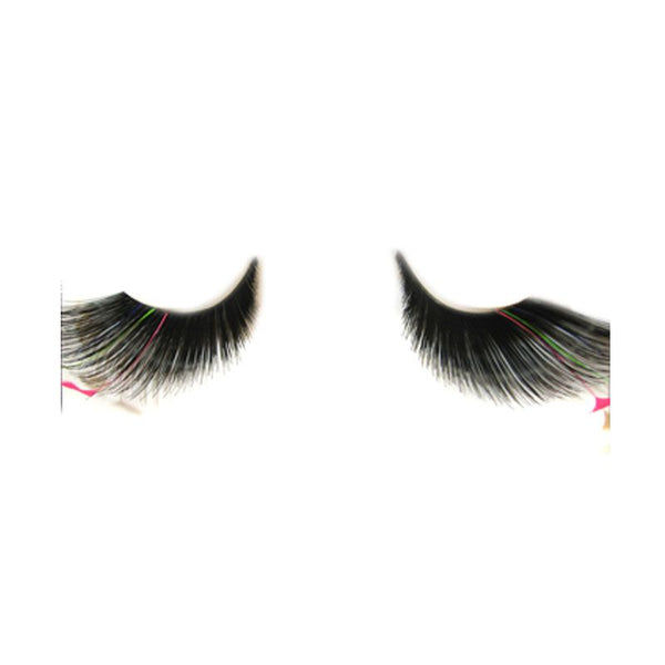 Eldora S134 Black Synthetic Feather Winged False Eyelashes
