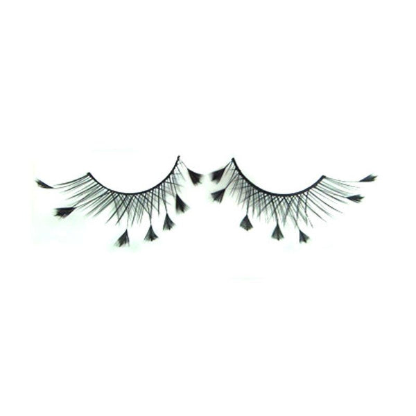 Eldora S203 Black Synthetic Feather Winged False Eyelashes