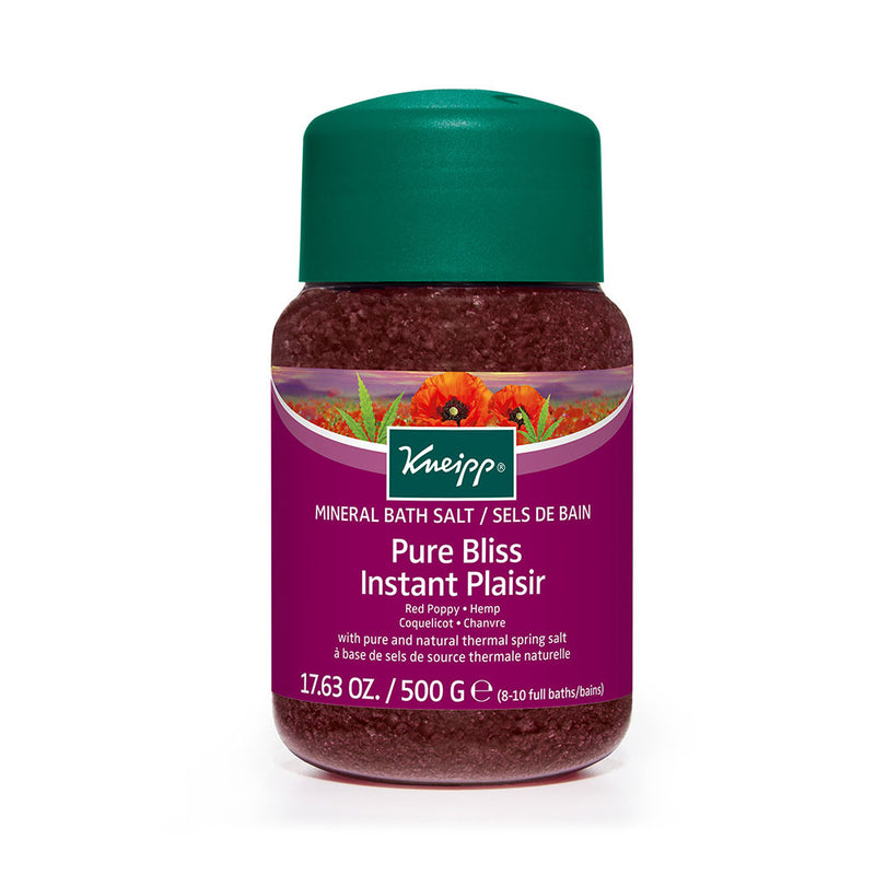Kneipp Red Poppy & Hemp Pure Bliss Mineral Bath Salt