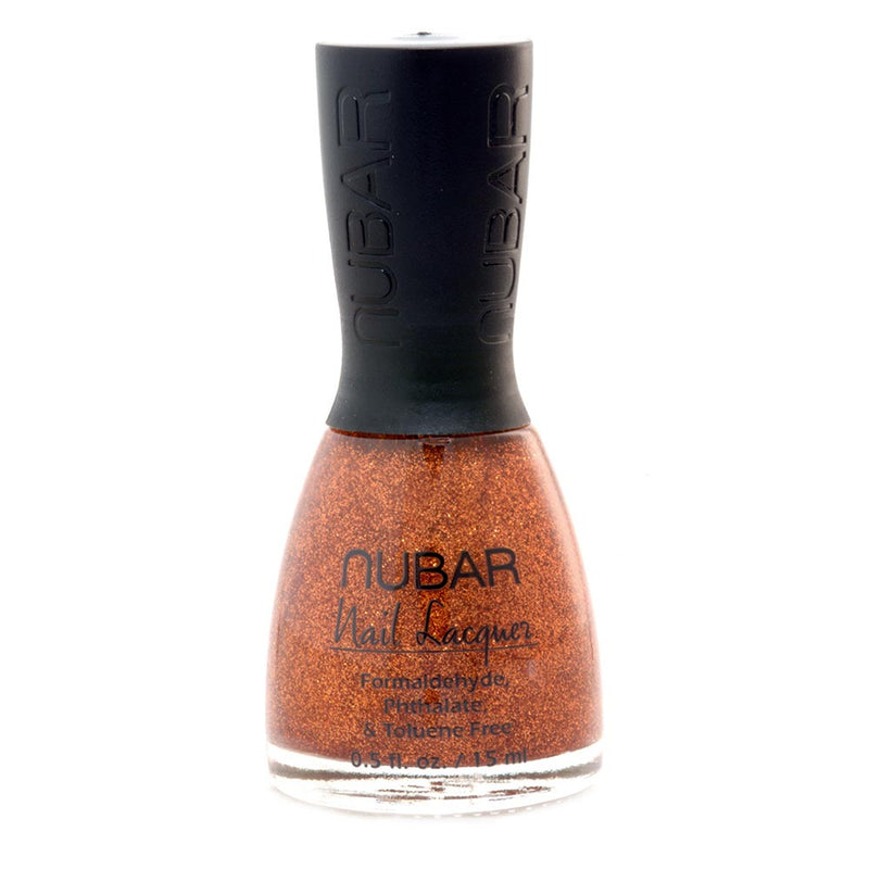 Nubar Orange Glitter NU-G110 Nail Polish - Trendy 1 Collection