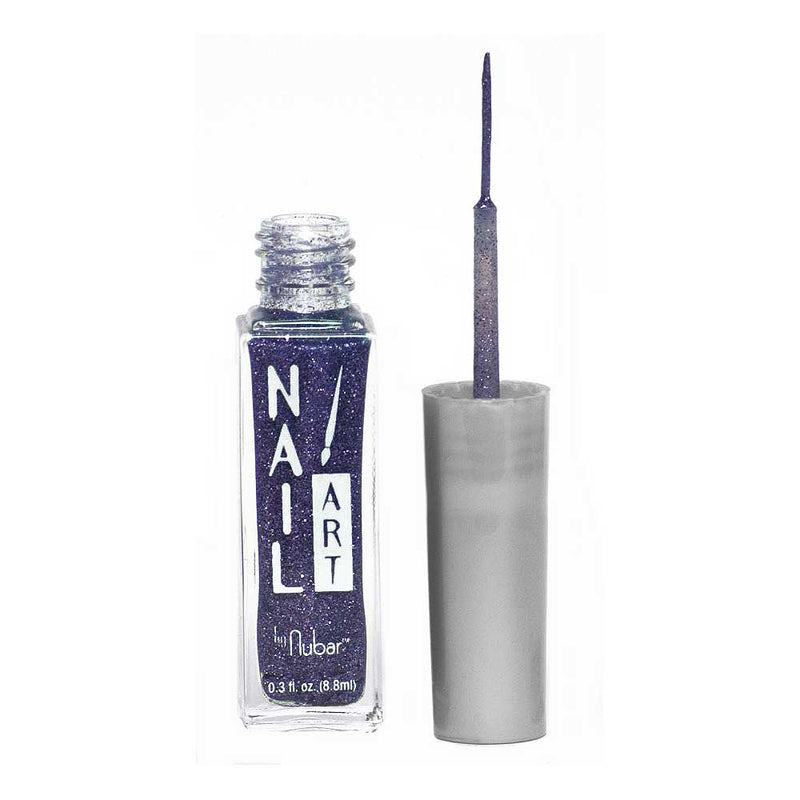 Nubar Purple Glitter A105 Nail Art Striper