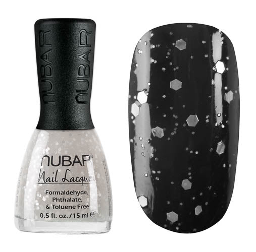 Nubar White Polka Dot NU-G714 Nail Polish - Polka Dot Collection